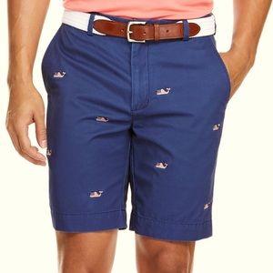 Vineyard Vines Navy Shorts 🇺🇸🐳Whale Flag